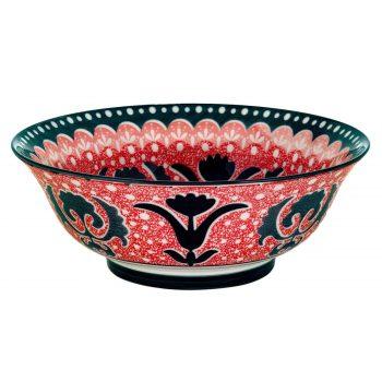 Bol-ceramica-design-rosu-negru-960-ml