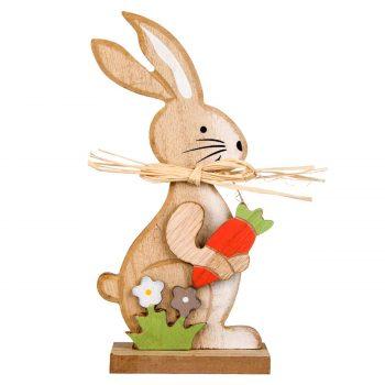 Figurina-lemn-iepuras-decorativ-morcov-Paste-19-cm