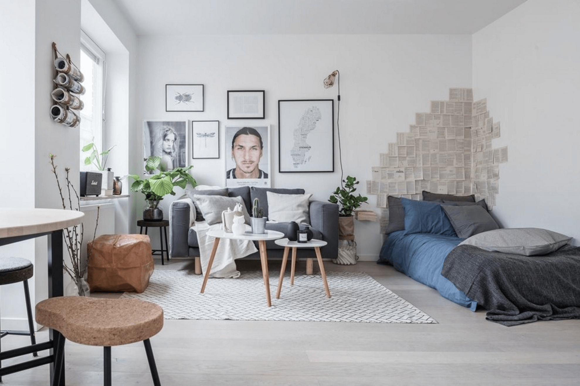 alb in decor scandinav