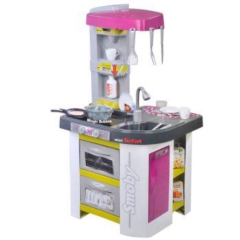 bucatarie-copii-miniTefal-smoby-chiuveta-aragaz-frigider-accesorii-vase-bucatarie
