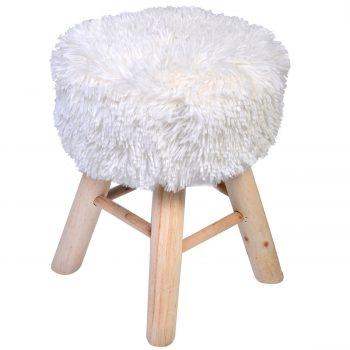 scaunel-picioare-lemn-blana-alba