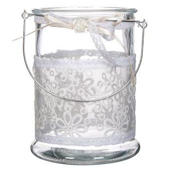 vaza-sticla-dantela-maner-handmade