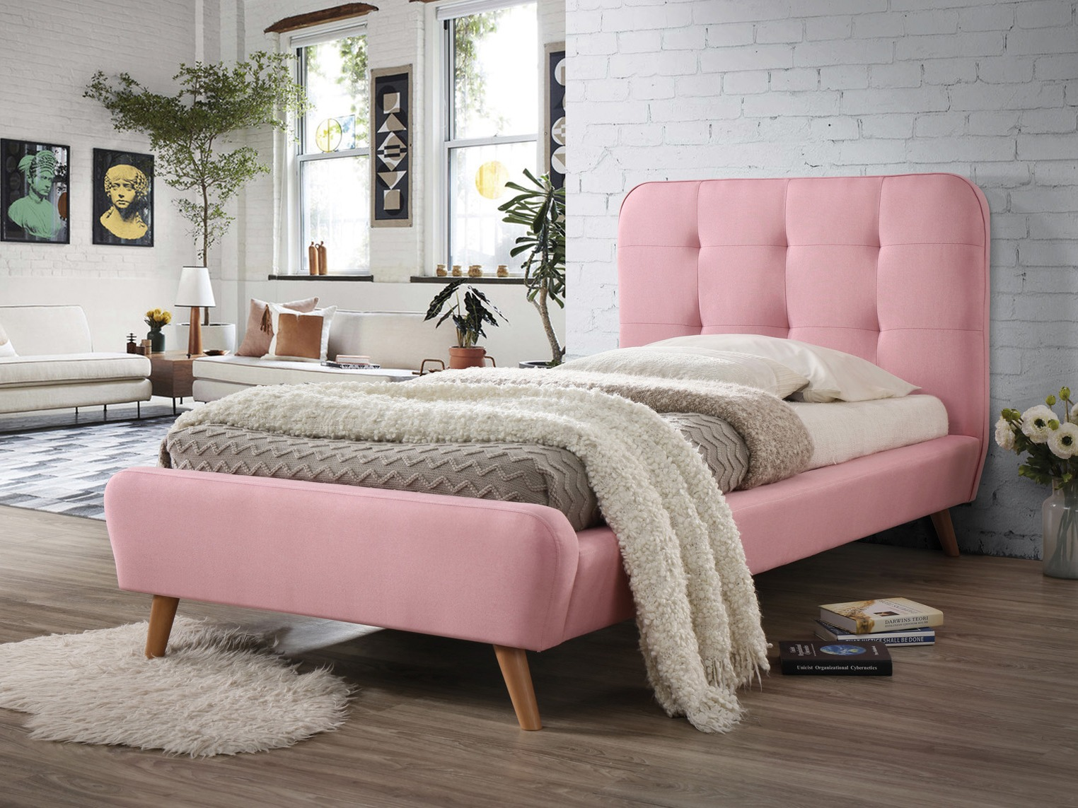 Dormitor in culori pastel